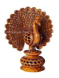 CS 1304 Wooden Carved Peacock